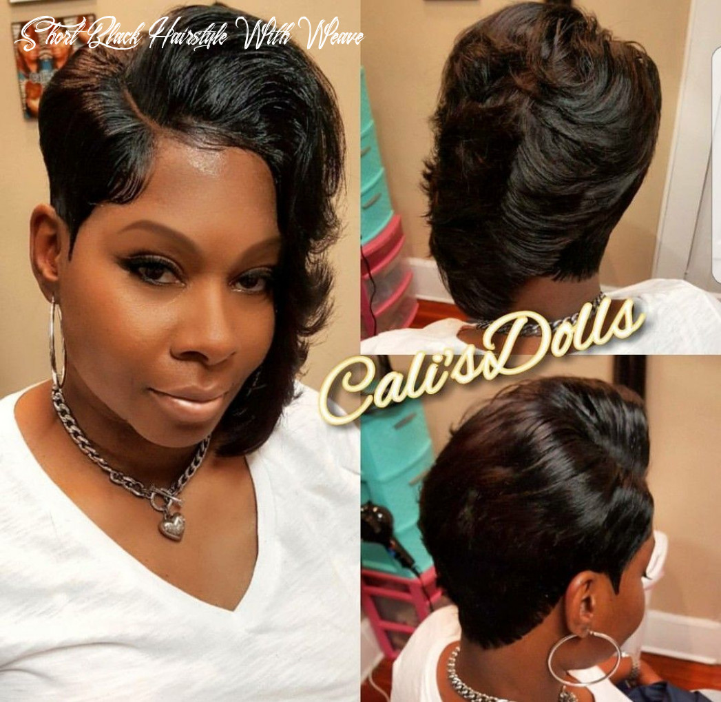 Pin on short hair styles short black hairstyle with weave