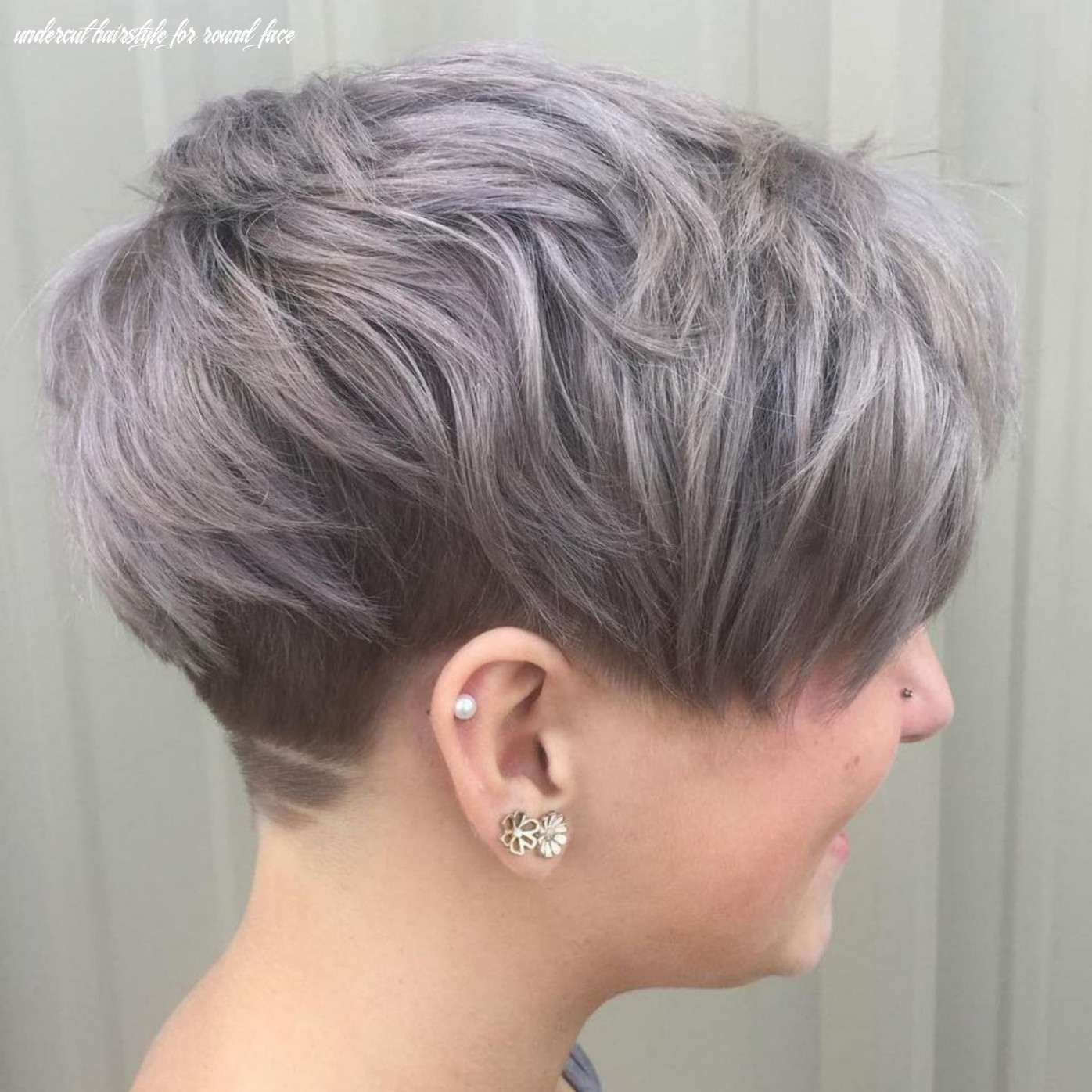 Pin on short hair undercut hairstyle for round face