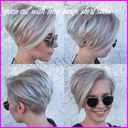 Pin on shorter cuts pixie cut with long bangs short sides