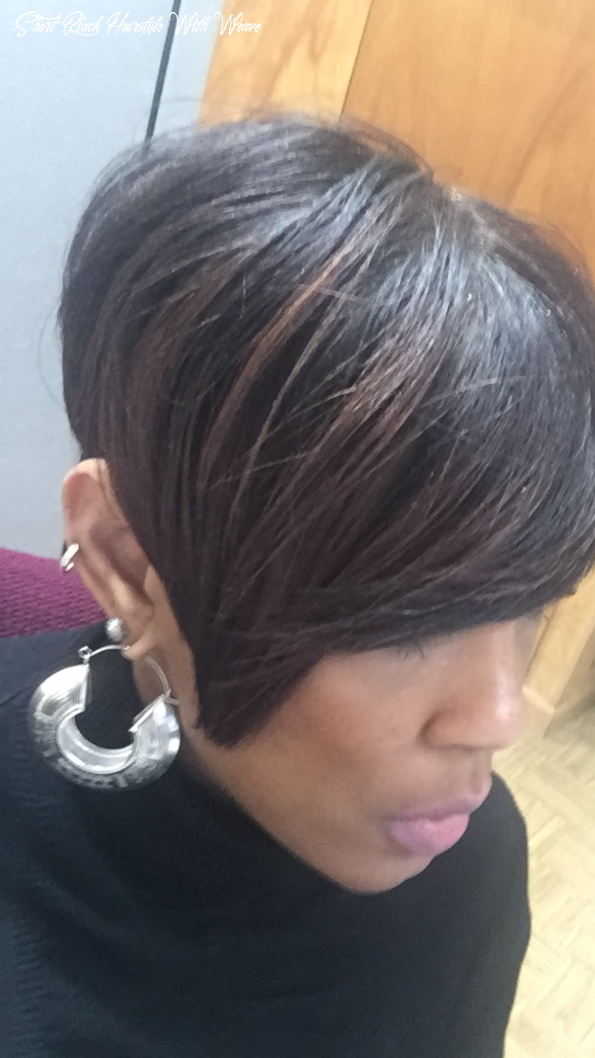 Pin on shorter hair short black hairstyle with weave