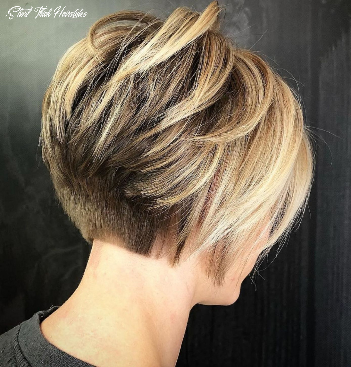 Pin on stacked layered bob short thick hairstyles
