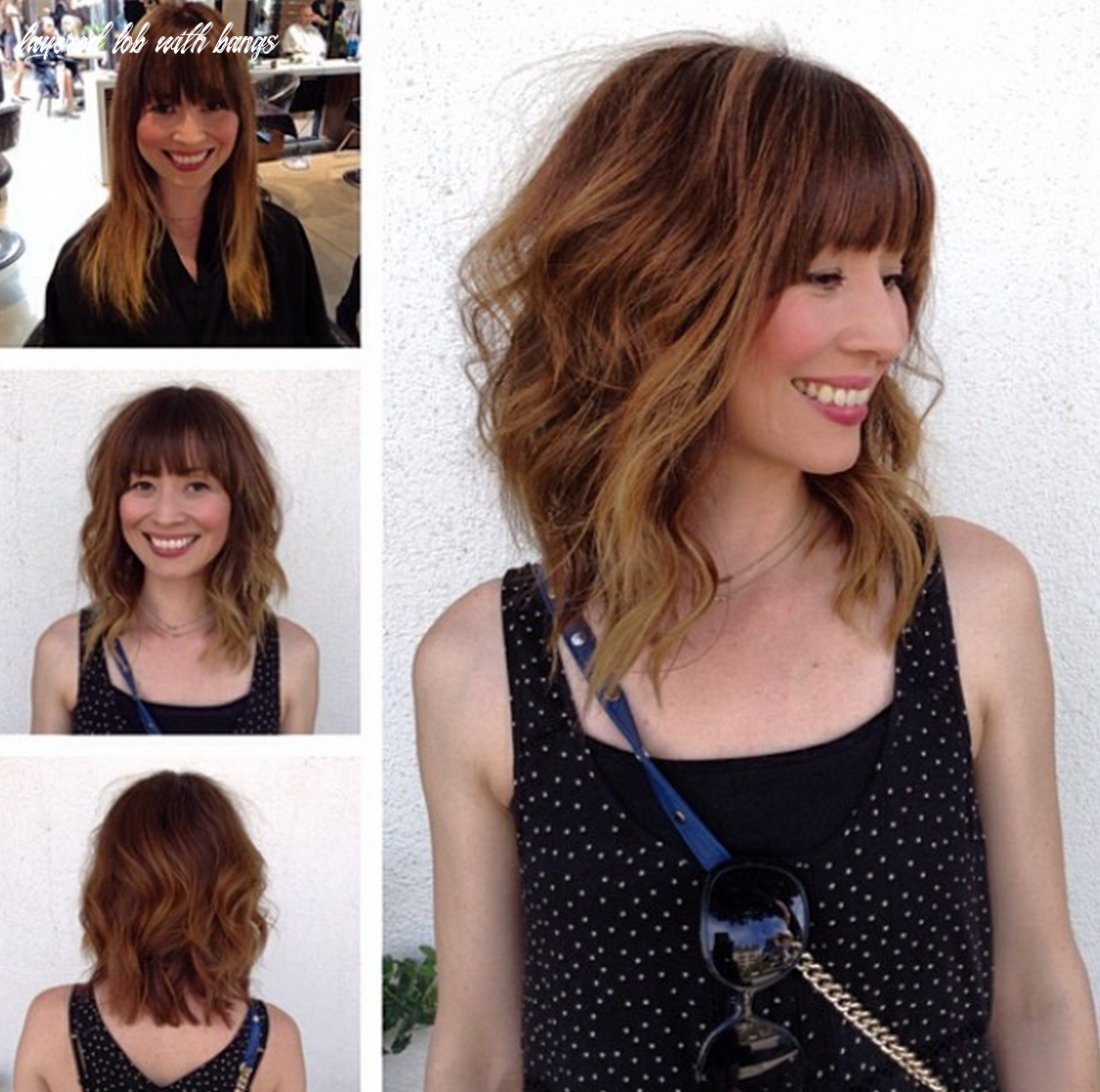Pin on the look layered lob with bangs