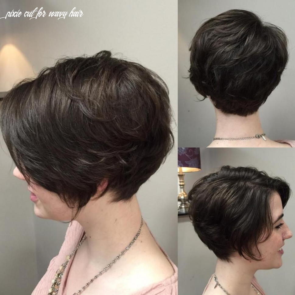 Pin on thick hair pixie cut for wavy hair