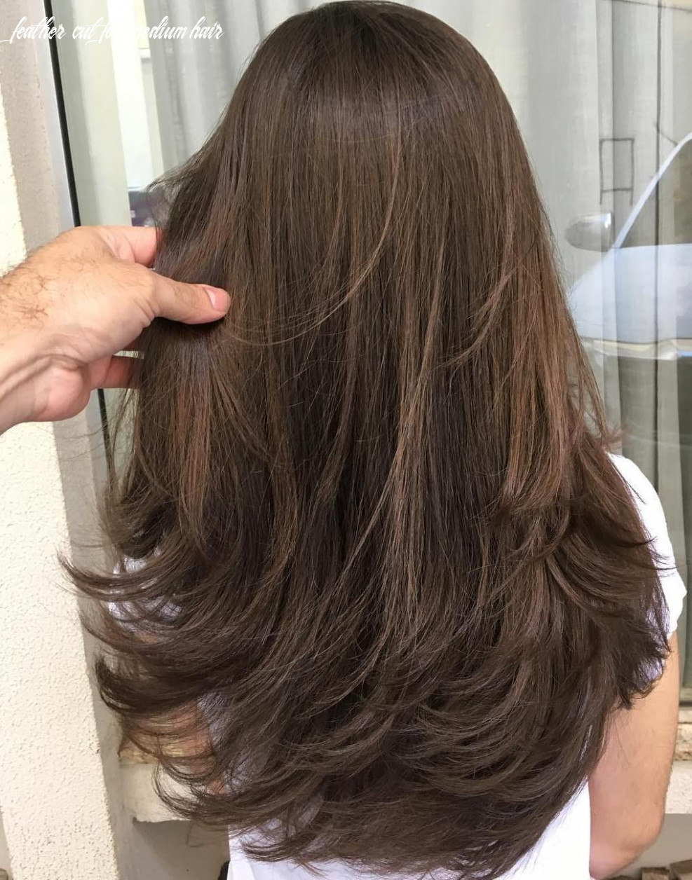 Pin on women hairstyles feather cut for medium hair