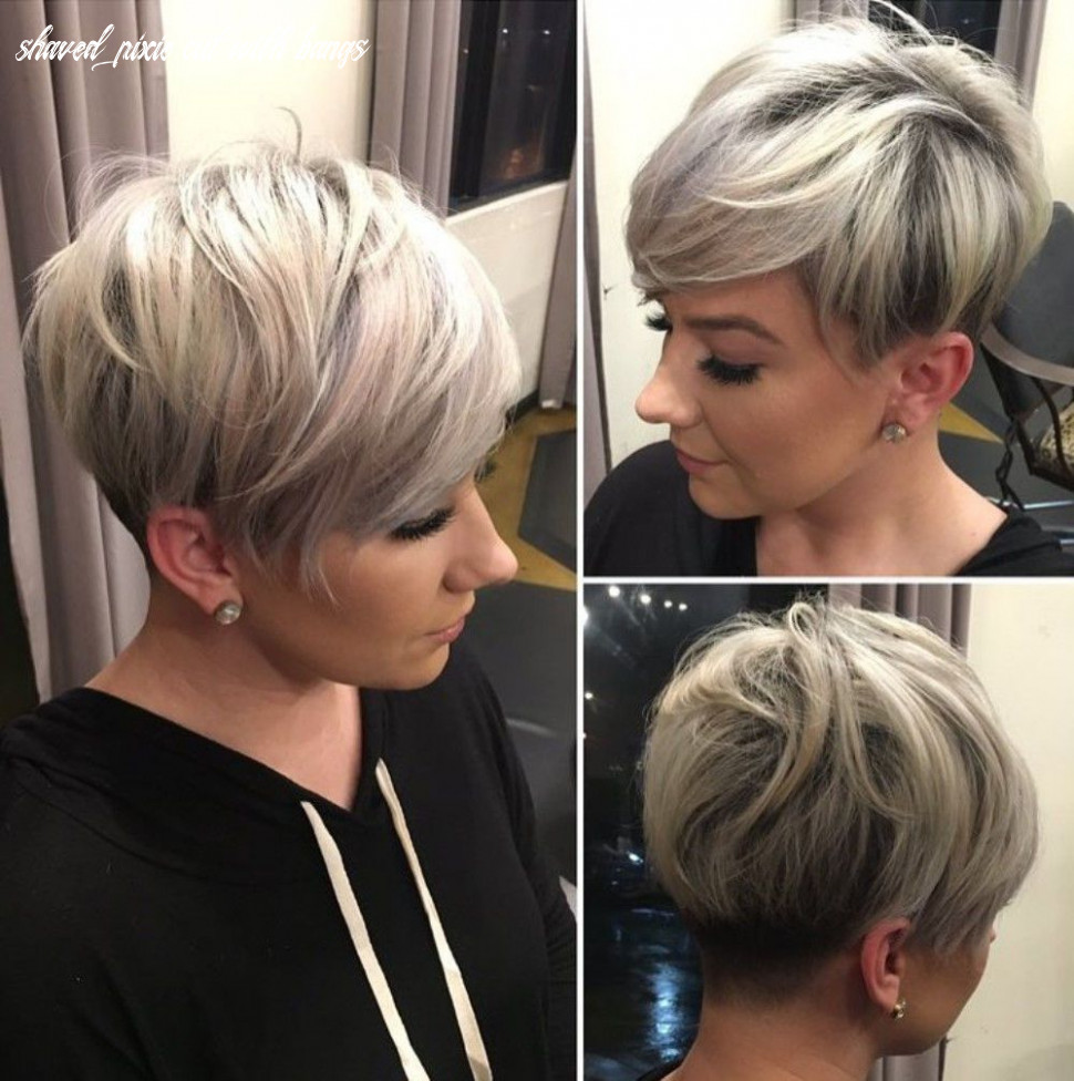 Pin on womens haircuts going viral shaved pixie cut with bangs