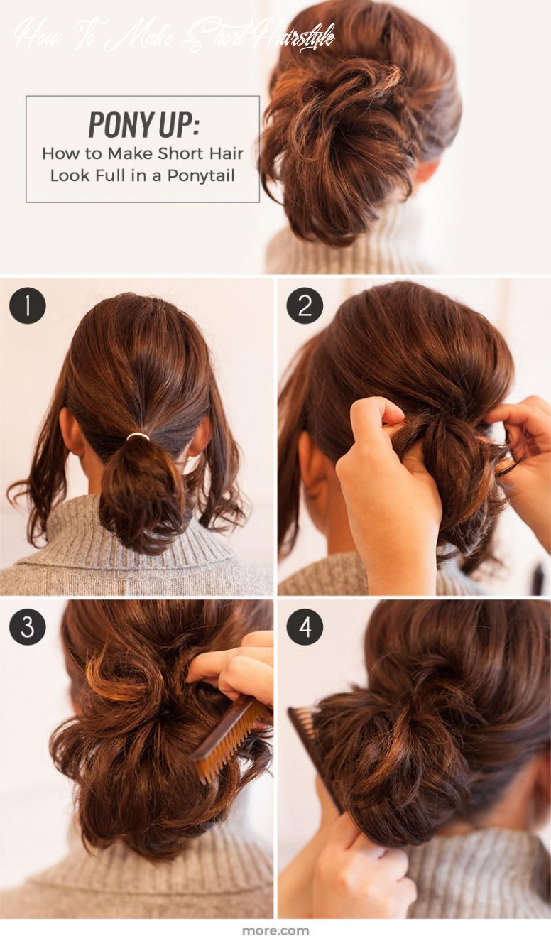 Pony up: how to make short hair look full in a ponytail | cute
