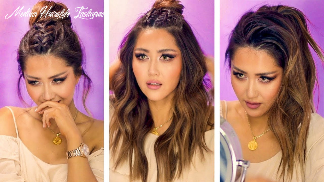 ★ popular instagram hairstyles for everyday with puff 💜 easy braids & updos for long 💜 medium hair medium hairstyle instagram