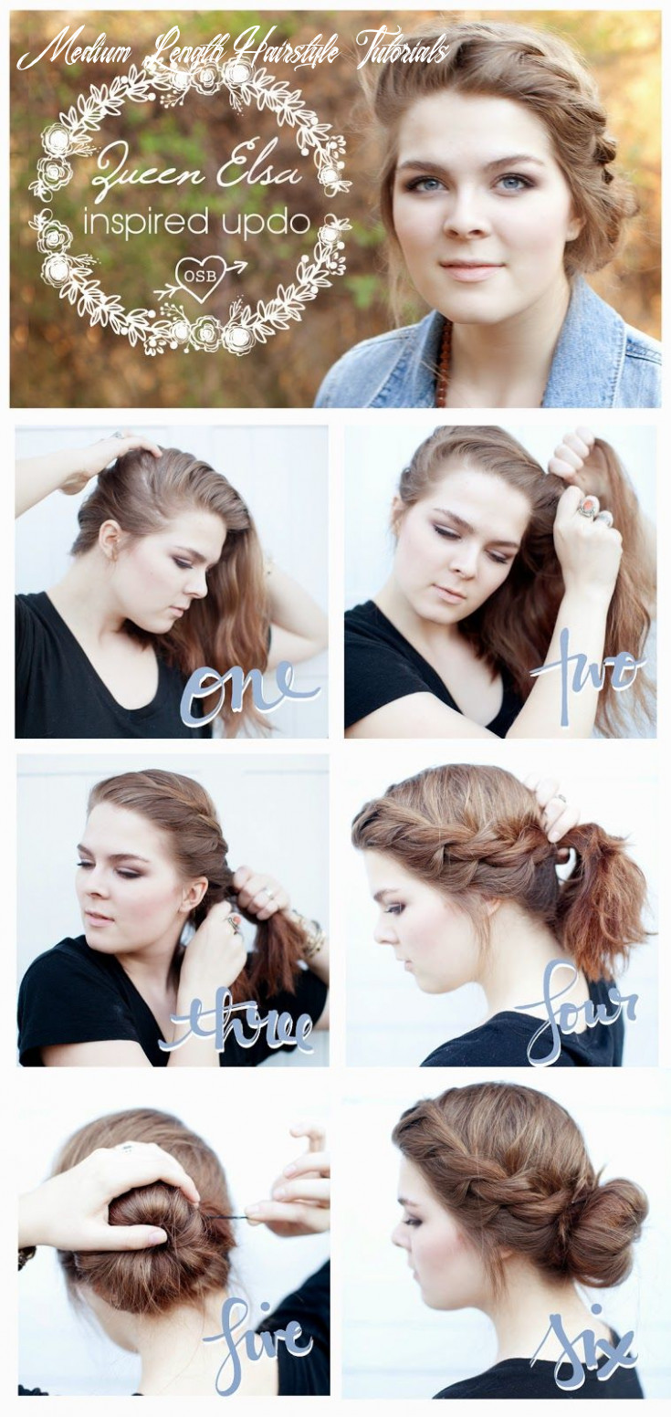 Queen Elsa Inspired Updo for short or medium length hair! Frozen ...