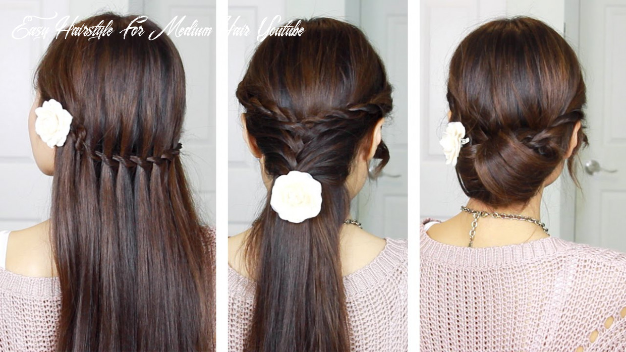 Quick & easy holiday hairstyles with twist braids easy hairstyle for medium hair youtube