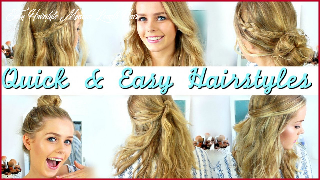 Quick and easy hairstyles for medium hair for school 12 ideas
