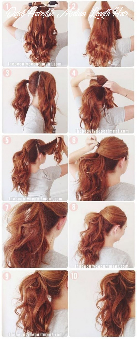 Quick and easy hairstyles for medium length hair: photos of simple