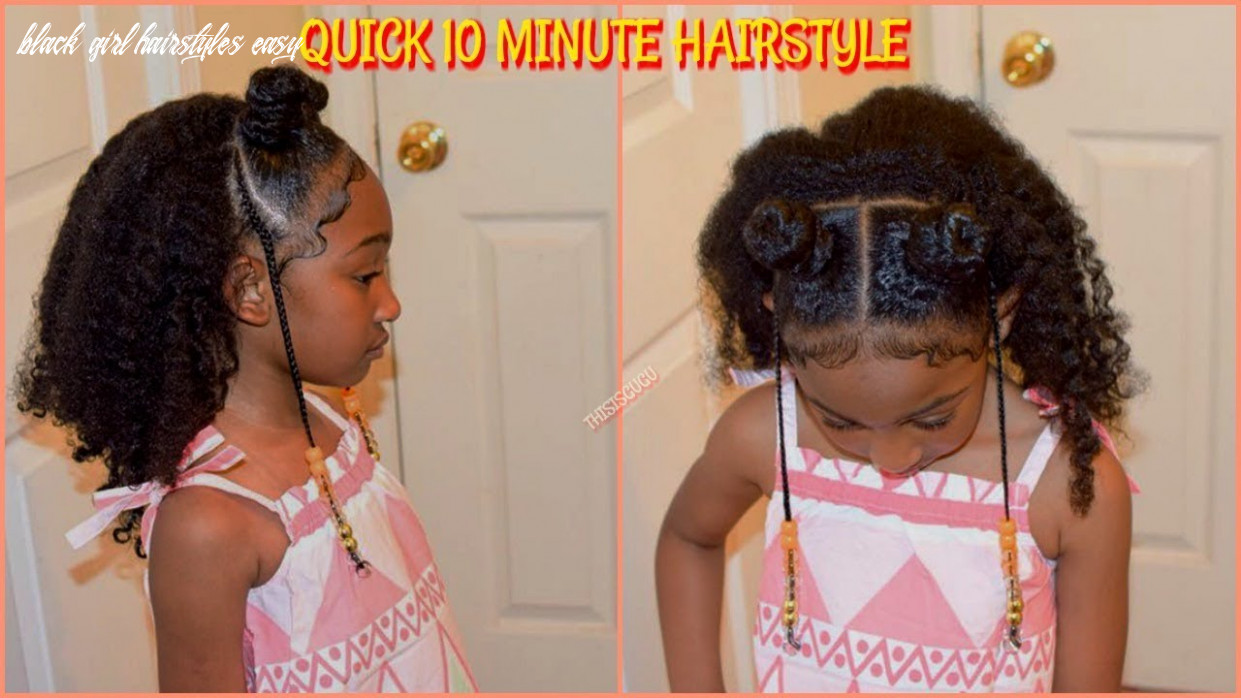 Quick/easy 11 minute kids/ girls natural hairstyles| back to school protective braid hairstyle black girl hairstyles easy