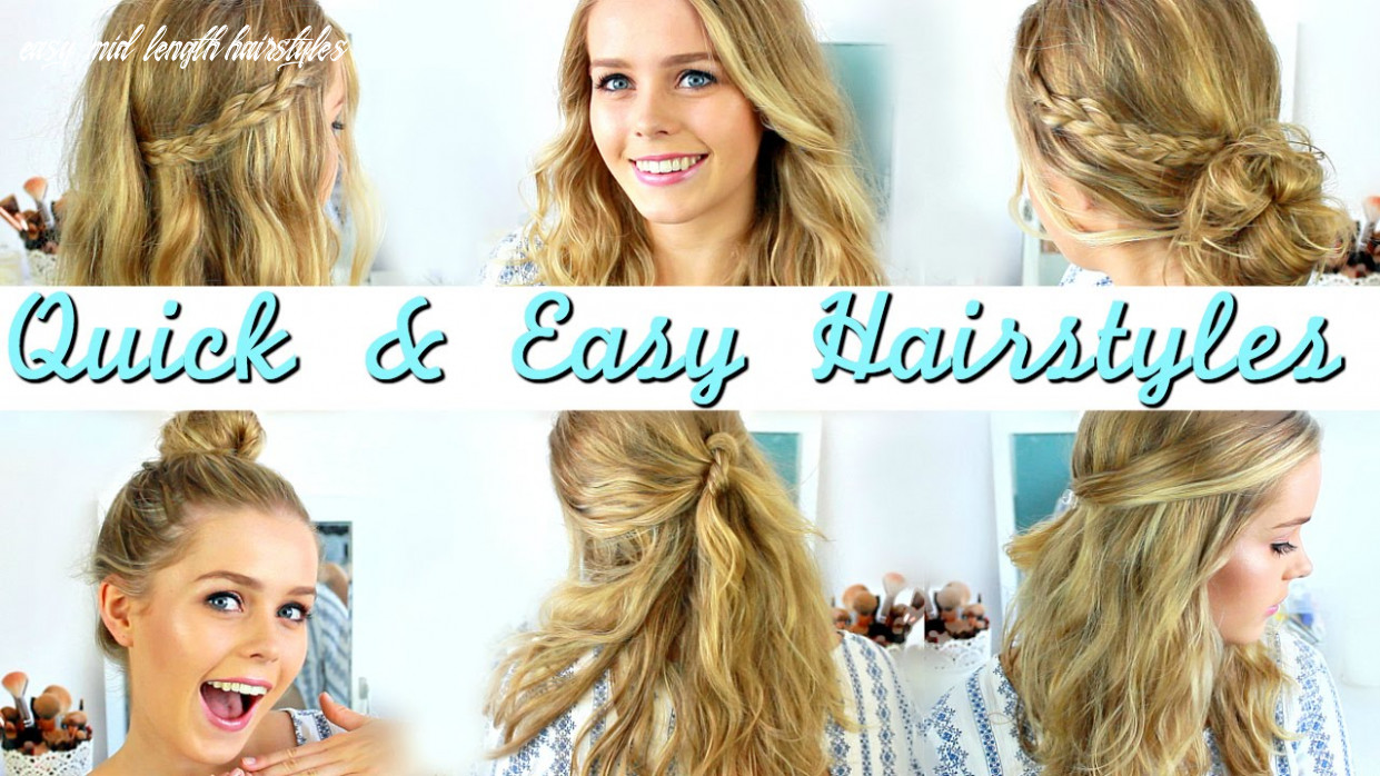 Quick, easy, heatless hairstyles: how to style medium length hair easy mid length hairstyles