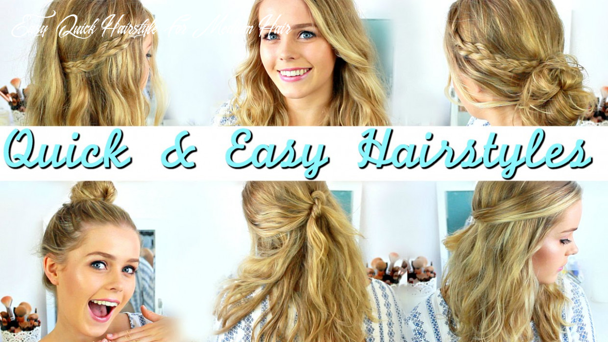 Quick, easy, heatless hairstyles: how to style medium length hair easy quick hairstyle for medium hair