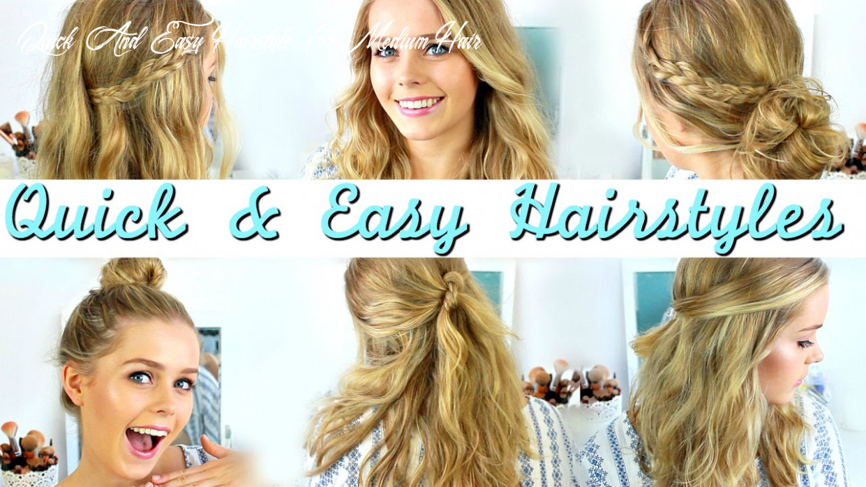 Quick, easy, heatless hairstyles: how to style medium length hair quick and easy hairstyle for medium hair