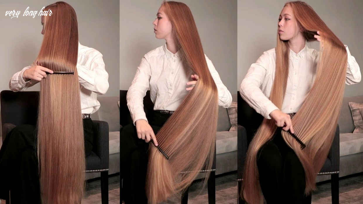 Realrapunzels   super long blonde, silky hair brushing and combing (preview) very long hair
