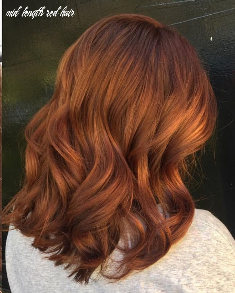 Red mid length hair (with images) | medium hair styles, medium