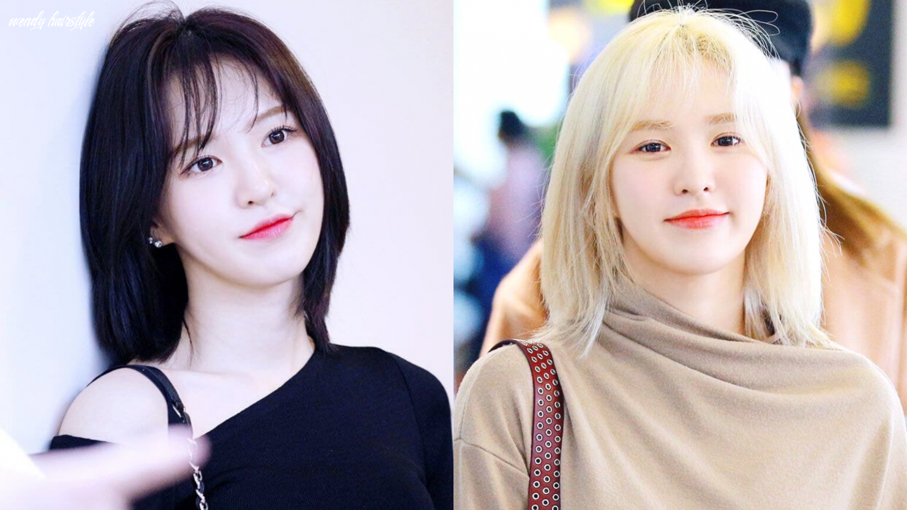 Red velvet wendy short hair: from black to blonde her visual is