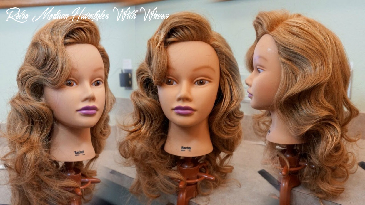 Retro glam waves tutorial / hair how to / how to do hollywood waves retro medium hairstyles with waves