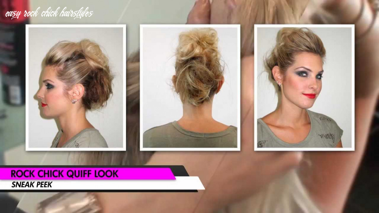 Rock chick quiff hair tutorial easy rock chick hairstyles