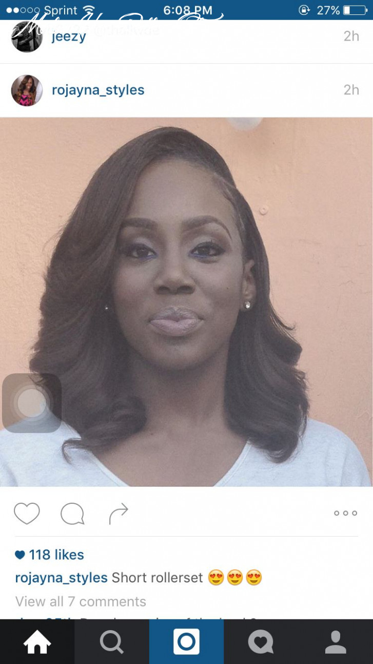 Roller set bob... Sew in   Classy hairstyles medium, Relaxed hair ...