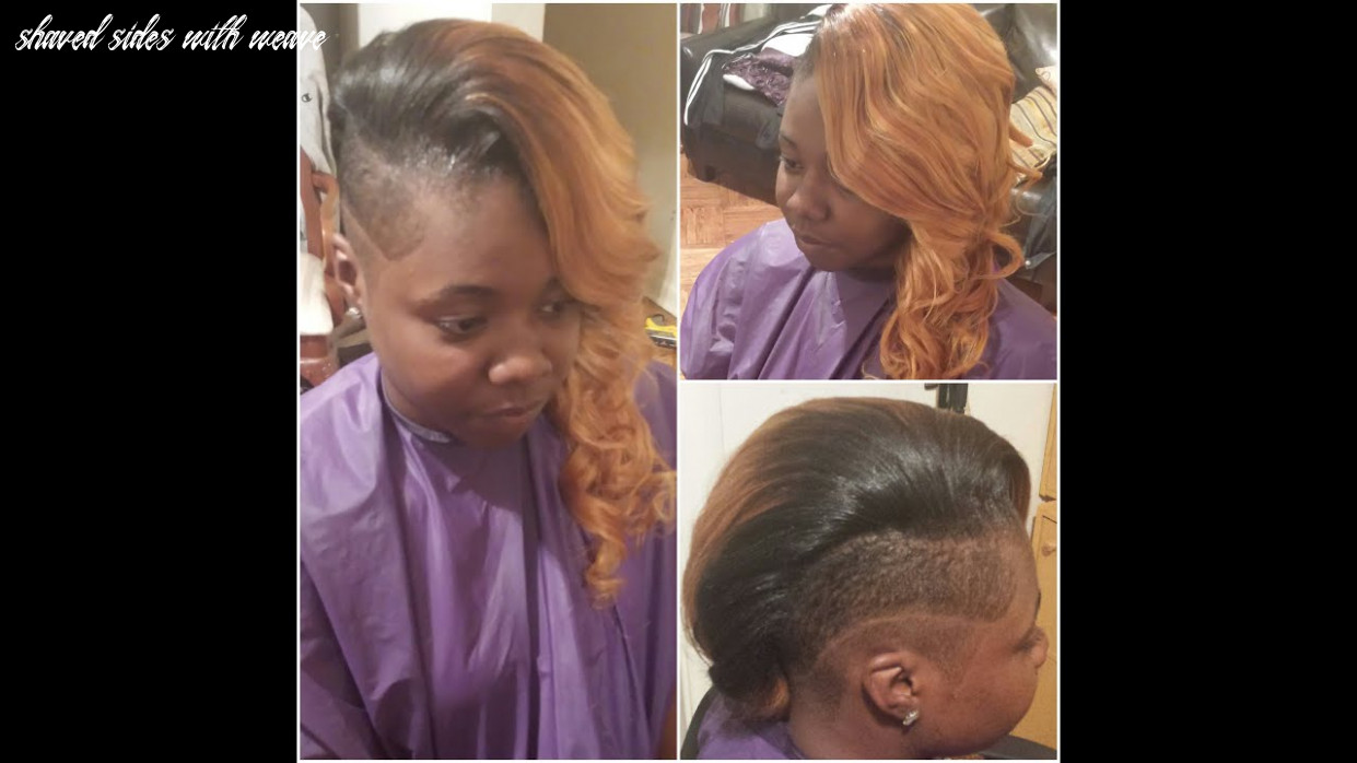 Sewin weave shaved sides youtube shaved sides with weave