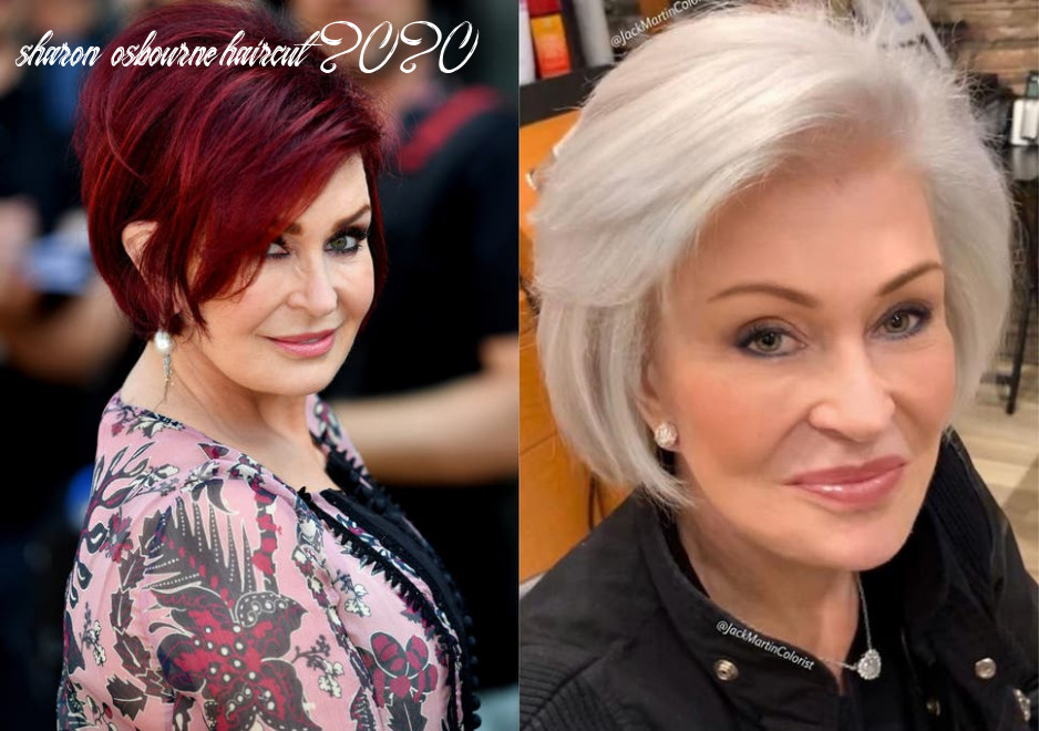 Sharon osbourne transforms hair from red to platinum with jane
