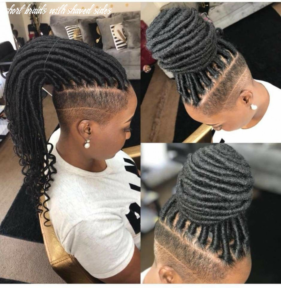 Sharp!!! | shaved side hairstyles, side hairstyles short braids with shaved sides