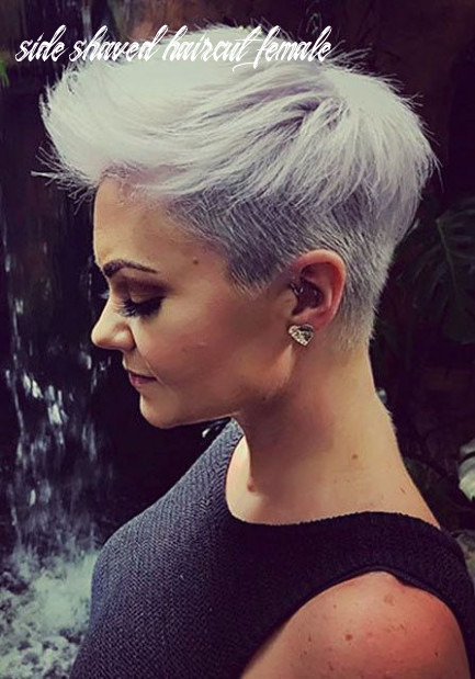 Shaved sides haircut female ideas in 10 | shaved hair, short