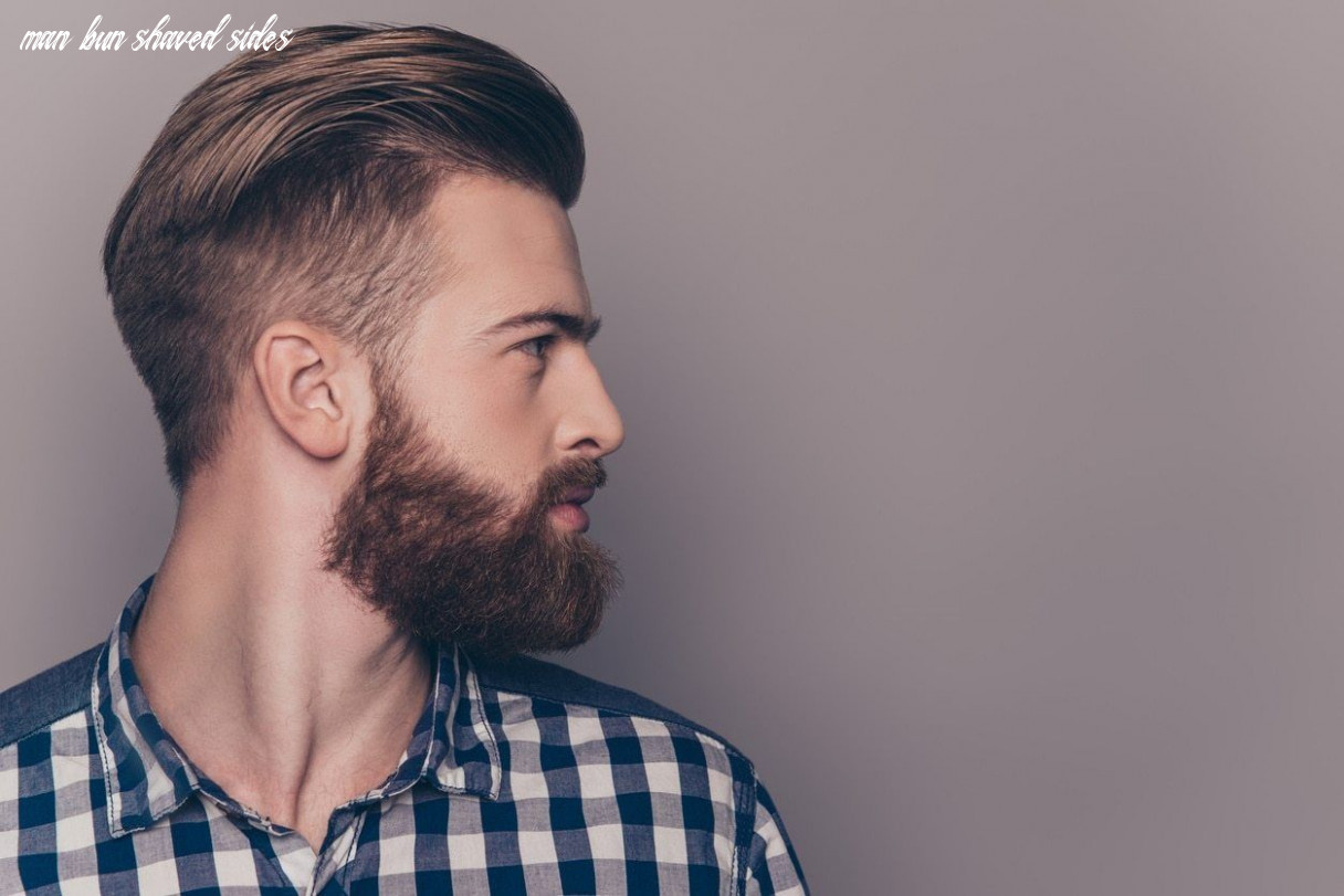 Shaved sides hairstyles mens that will step up your style game man bun shaved sides
