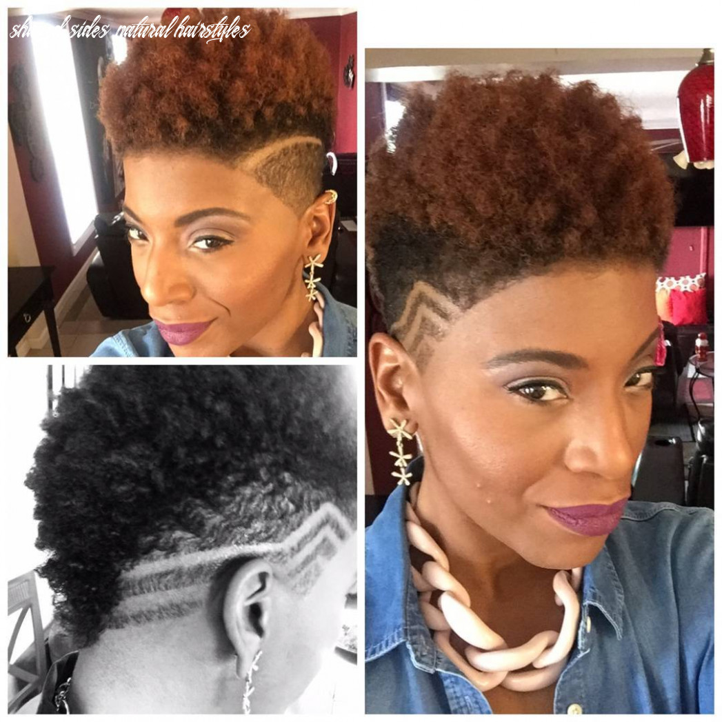 shaved-sides-with-design-tapered-cut | Short Natural Hairstyle
