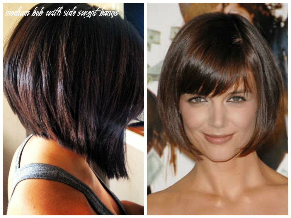 Short bob hairstyles with side swept bangs | Inverted bob ...