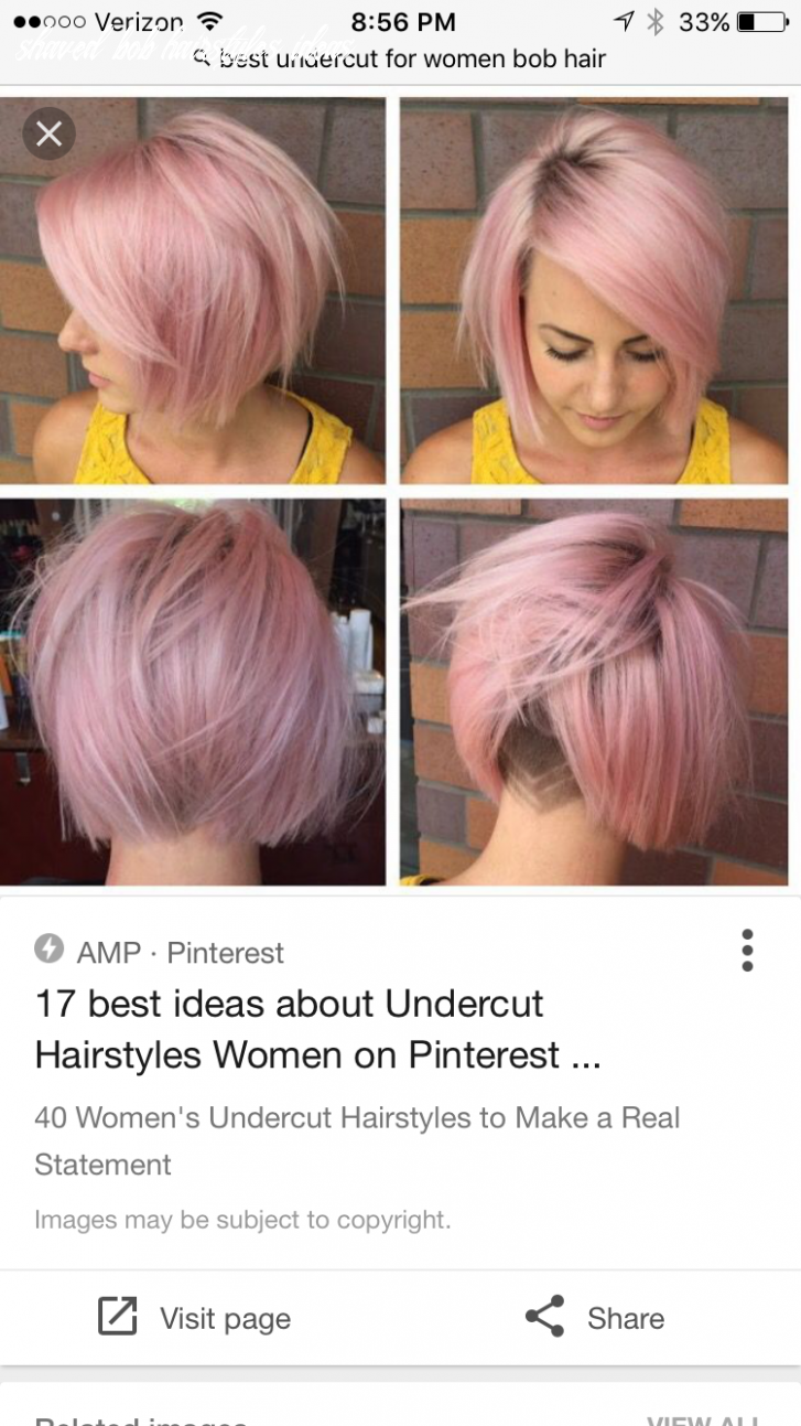 Short bob with undercut | Short hair undercut, Undercut bob ...