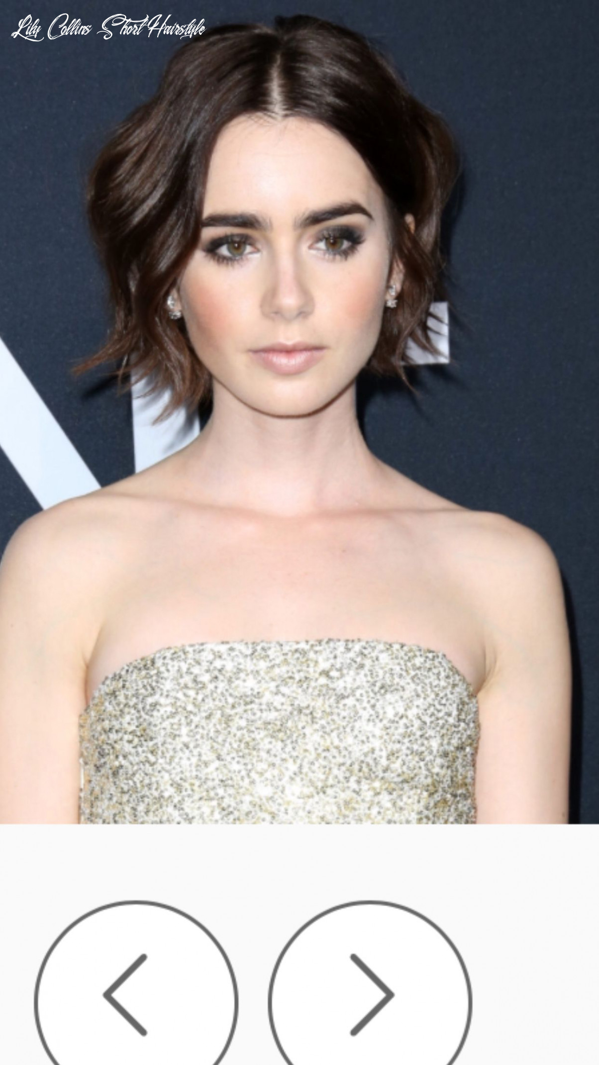 Short choppy layers | lily collins short hair, short hair styles
