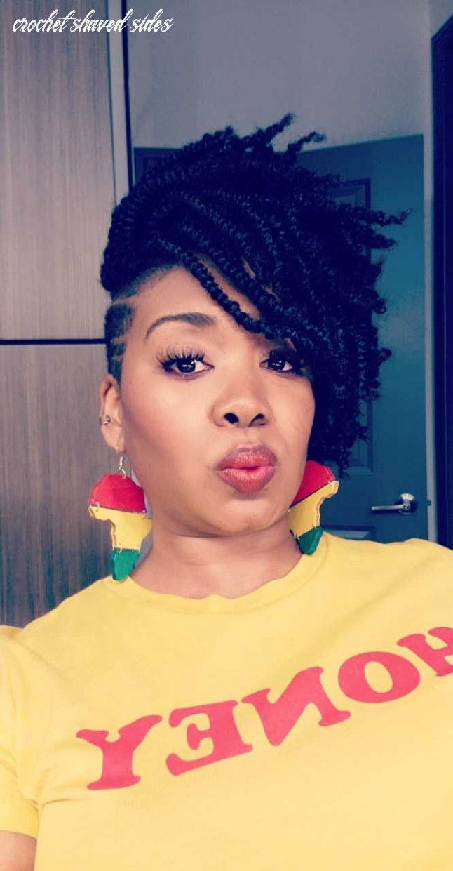 Short Crochet Hairstyles | Shaved hair designs, Shaved side ...