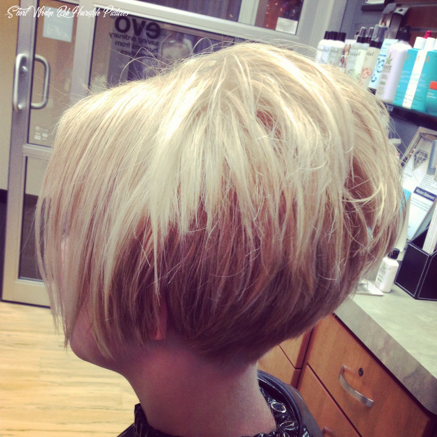 Short cropped stacked tapered at neck bob!   short stacked hair