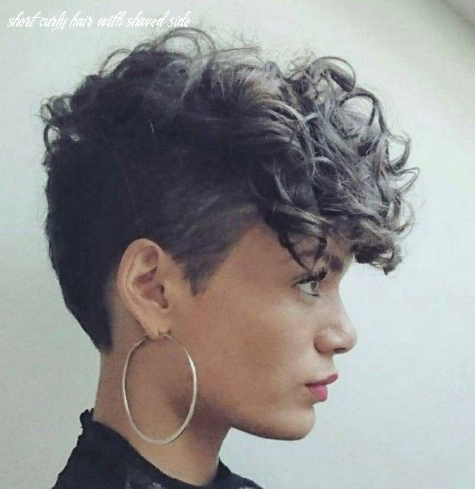Short curly hairstyles with shaved side | modern hairstyle (with