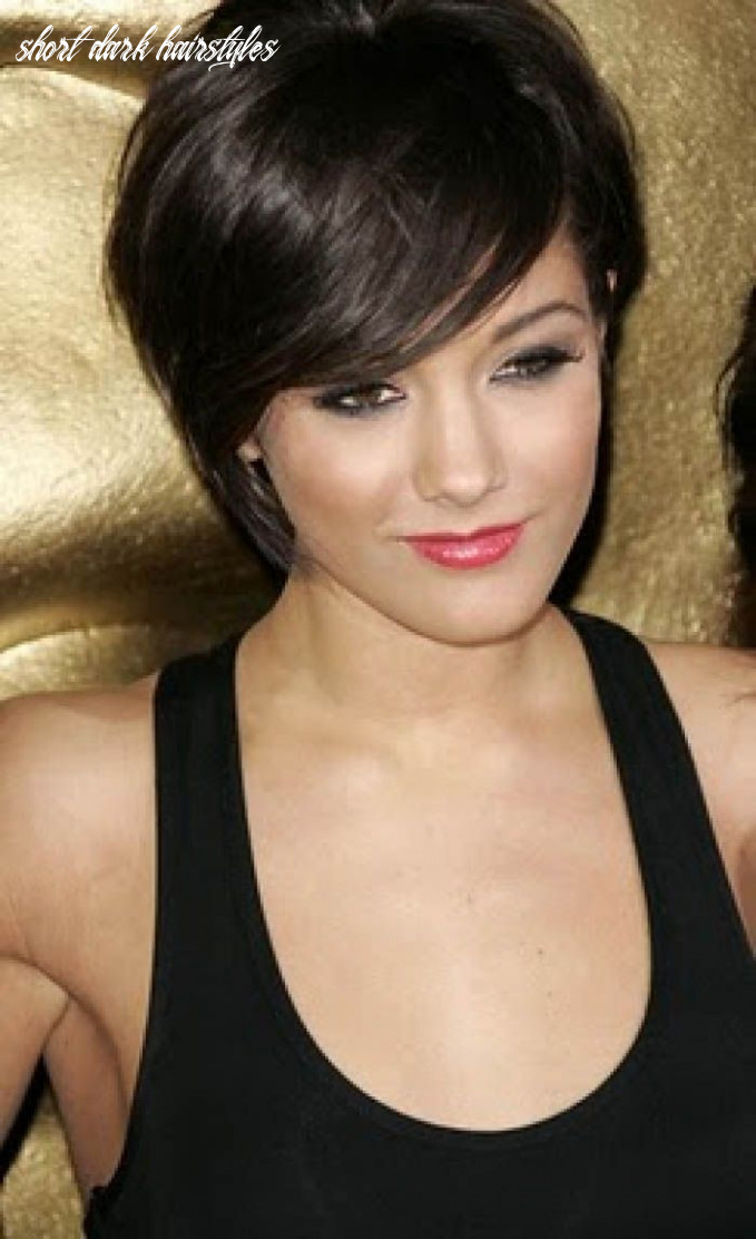 Short dark hairstyles for women | haircut for thick hair, thick