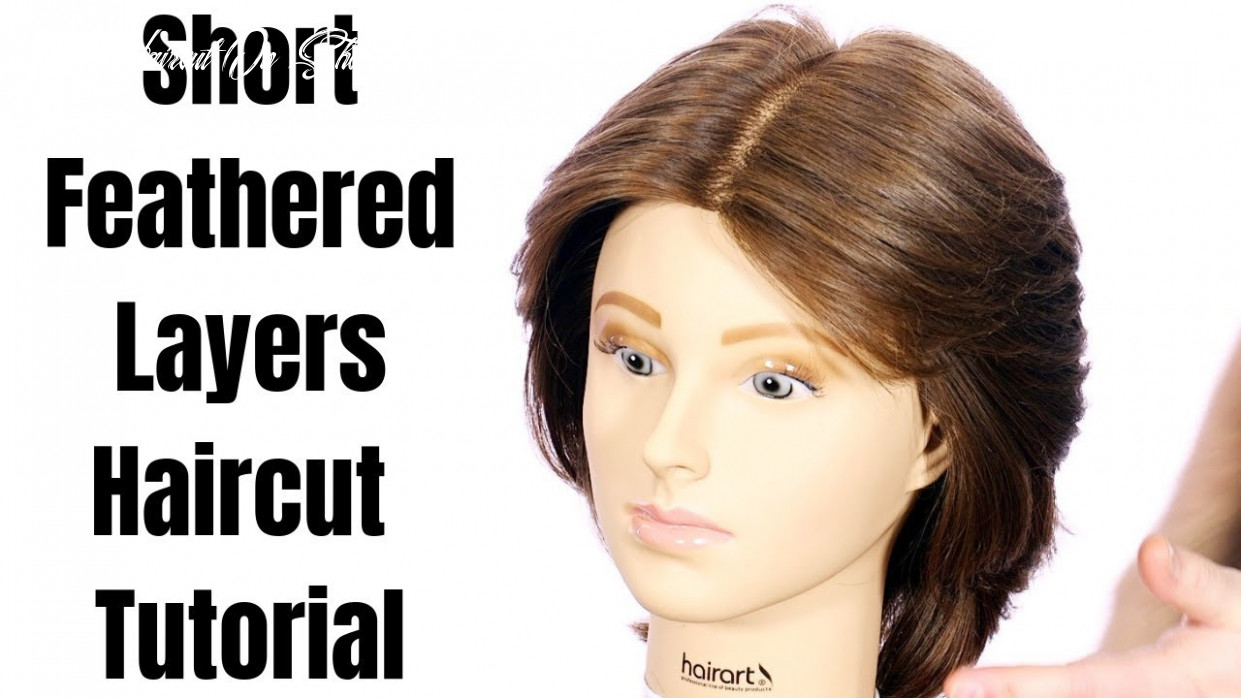 Short feathered layers haircut tutorial thesalonguy layer haircut on short hair