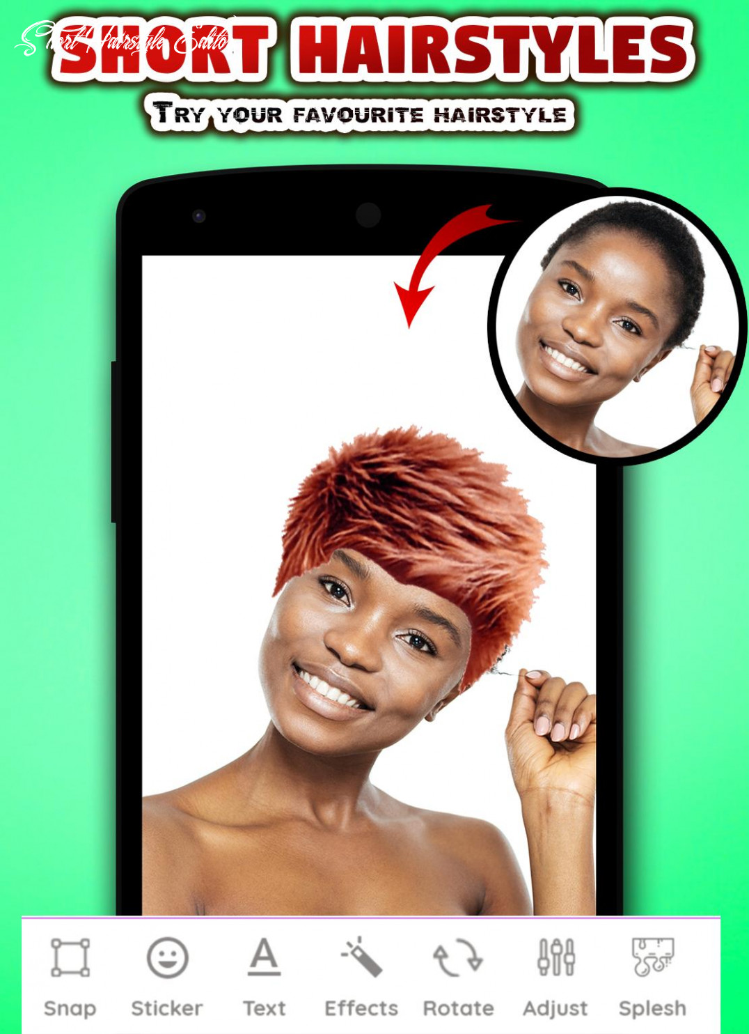 Short hair hairstyles for women photo editor for android apk
