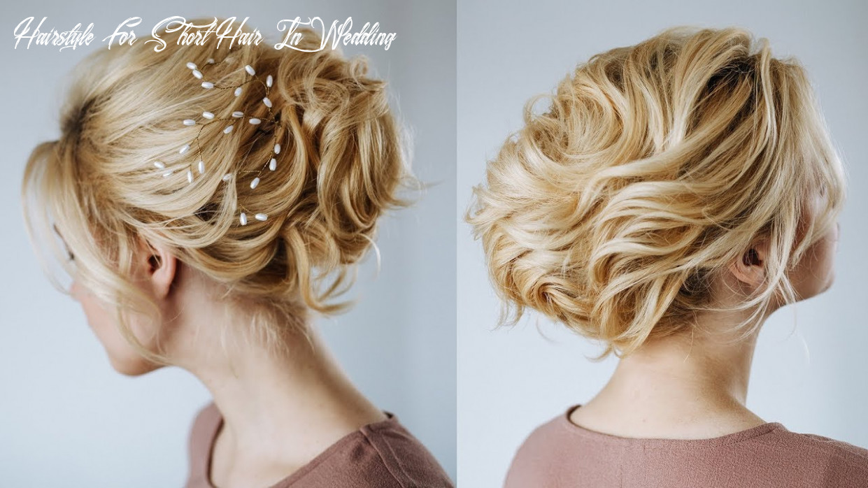 Short hair wedding updo | hairstyles for short hair from kukla lu hairstyle for short hair in wedding