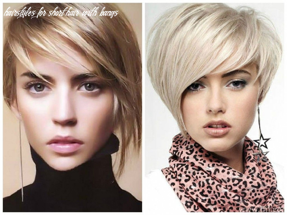 Short haircut options with bangs for women with thin hair hairstyles for short hair with bangs