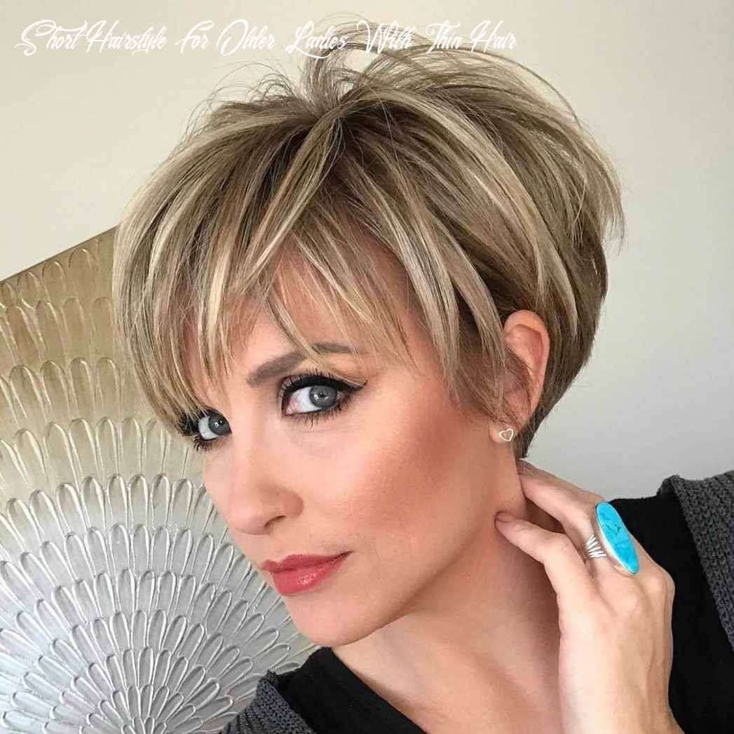 Short haircuts for older women with thin hair 10 short hairstyle for older ladies with thin hair