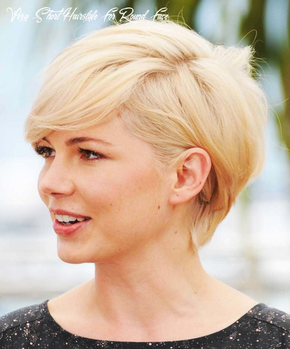 Short haircuts for round face shape 11 very short hairstyle for round face