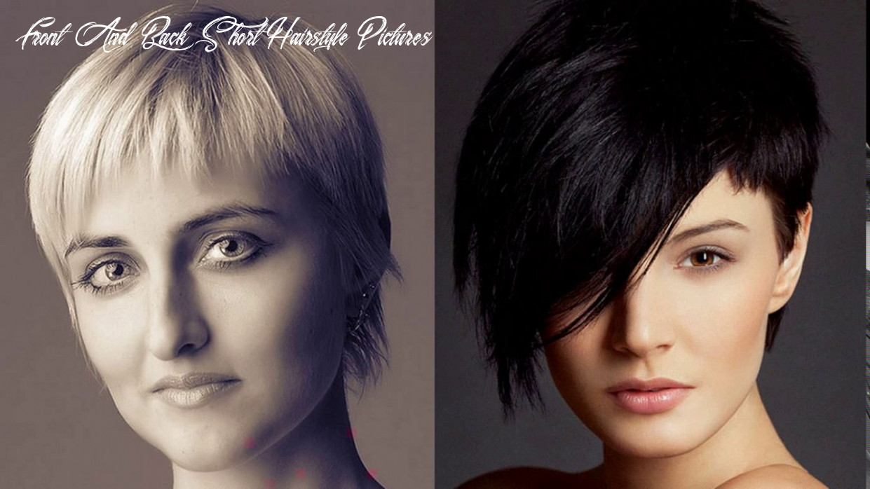 Short haircuts for women over 10 front and back view youtube front and back short hairstyle pictures