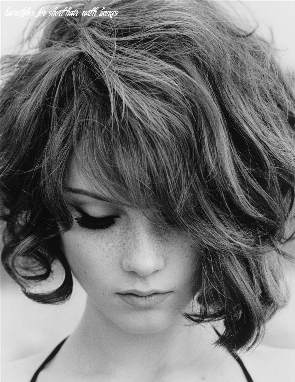 Short haircuts with bangs and curly hairstyles for short hair with bangs