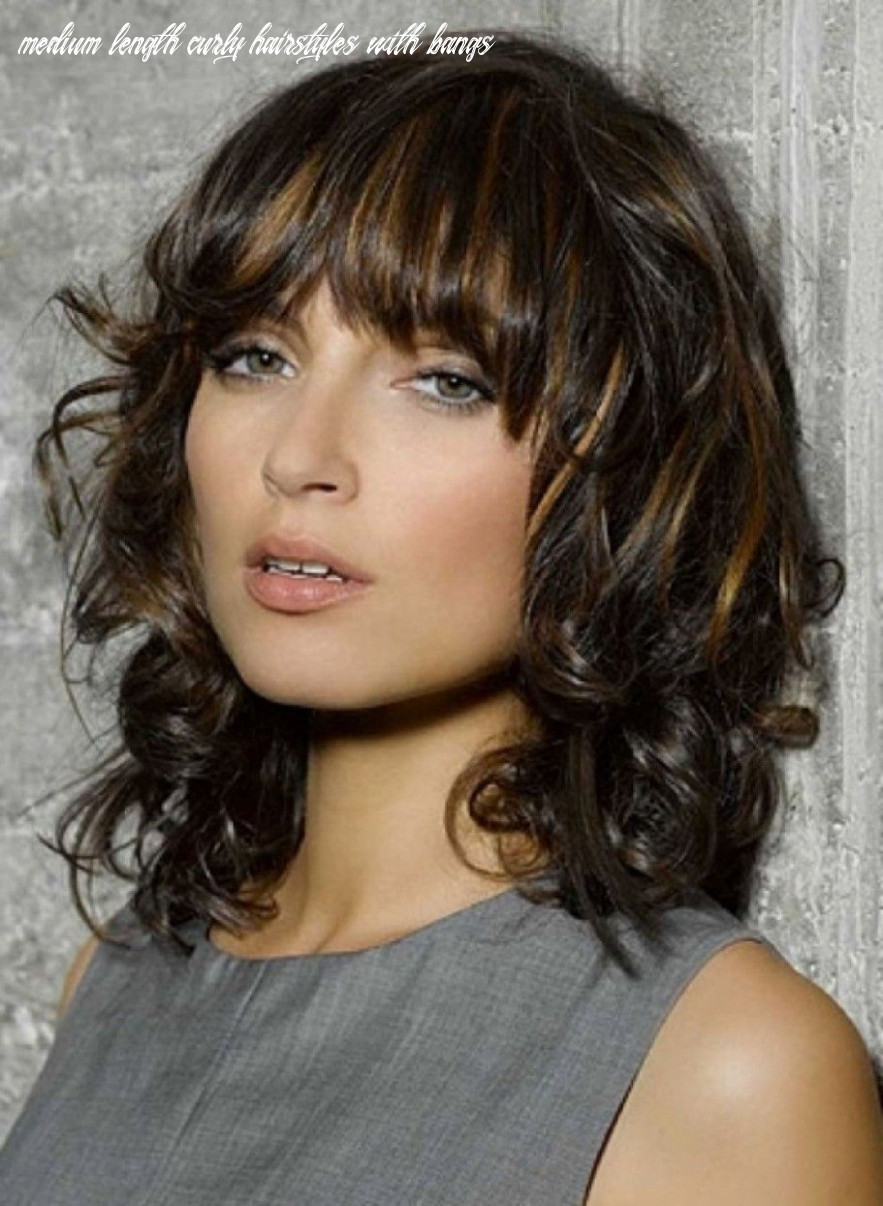 Short haircuts with bangs and curly | mittellange haare frisuren