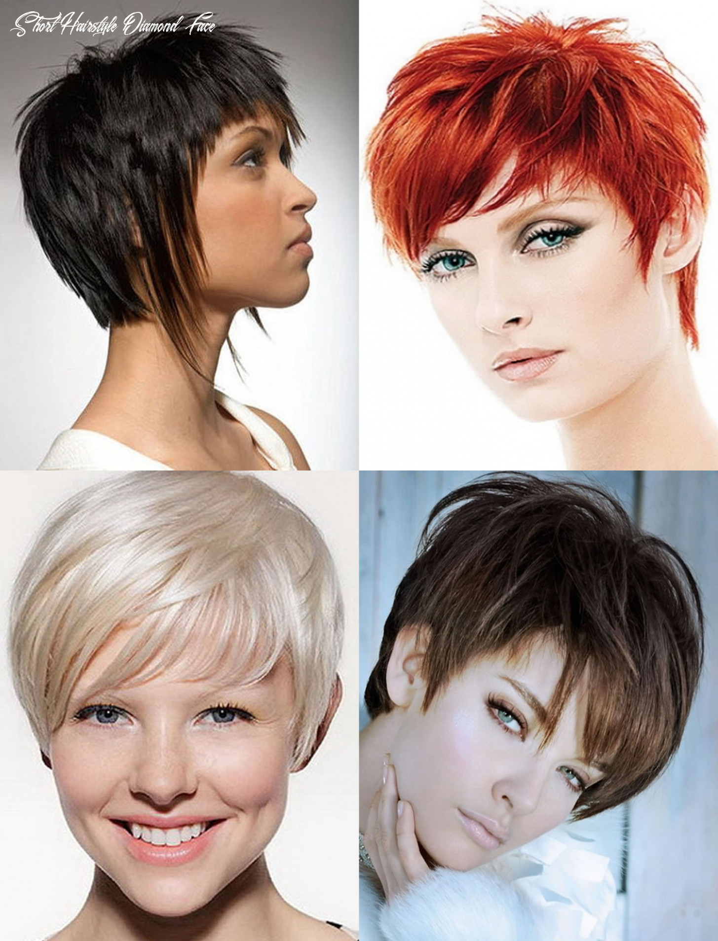 Short hairstyle for diamond shaped face hairstyle 11 short hairstyle diamond face