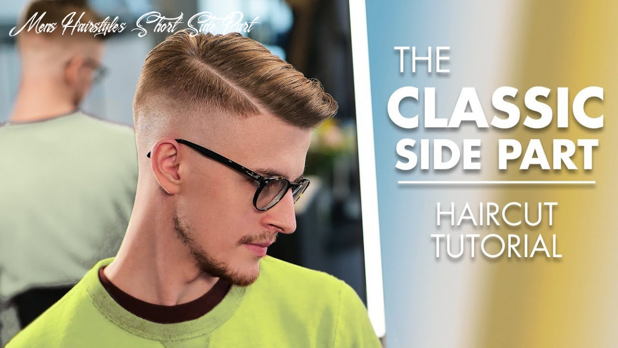 Short hairstyle side part haircut with machine and scissor mens hairstyles short side part