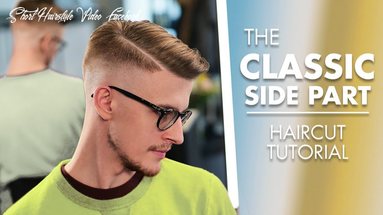 Short hairstyle side part haircut with machine and scissor short hairstyle video facebook